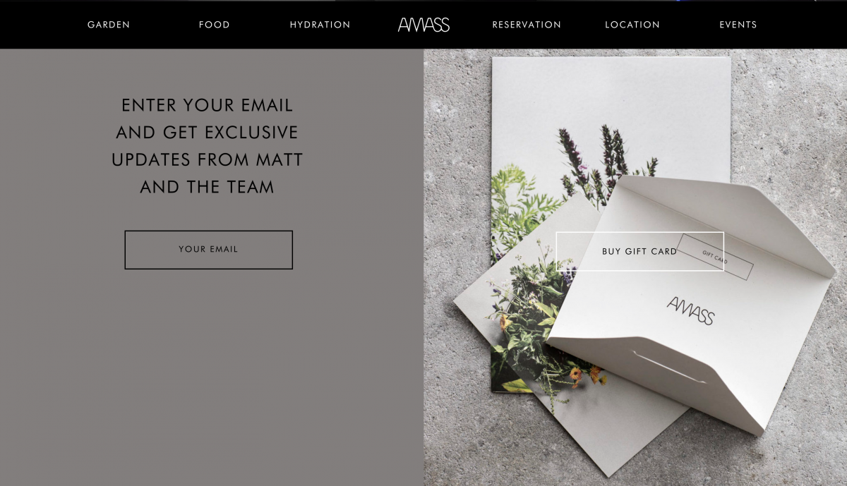 Amass Restaurant Gift Card